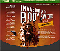"Illustration for this script: 1956 movie poster for ""Invasion of the Body Snatchers"""